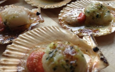 Grilled Queen Scallops